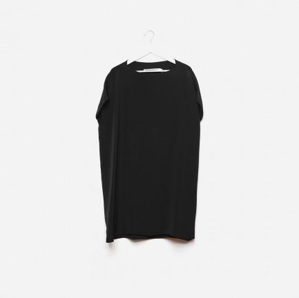 设计基本款-墨色重磅真丝宽腰带及膝裙