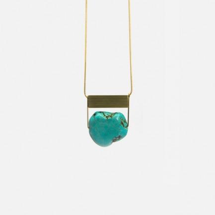 绿松石黄铜百搭项链