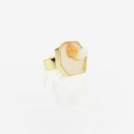 远观系列镀金戒指 双胶囊 | 独立设计师品牌 原创定制