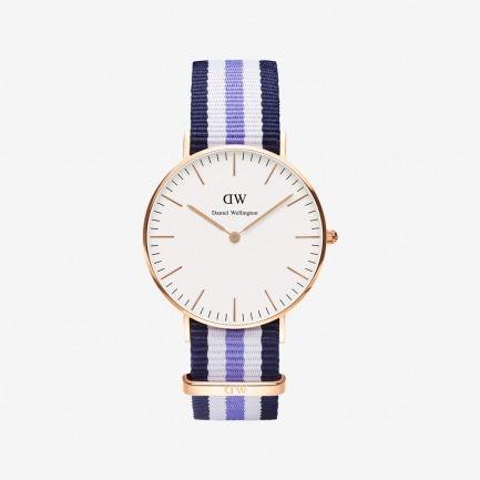Trinity玫瑰金尼龙带腕表【中性款36mm】 | 北欧简约风 中性经典款