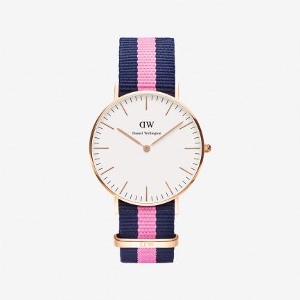 Winchester 玫瑰金尼龙带腕表【中性款36mm表盘】 | 北欧简约风 中性经典款