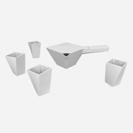 平板壶杯组 | 颇具艺术性茶具 一壶四杯