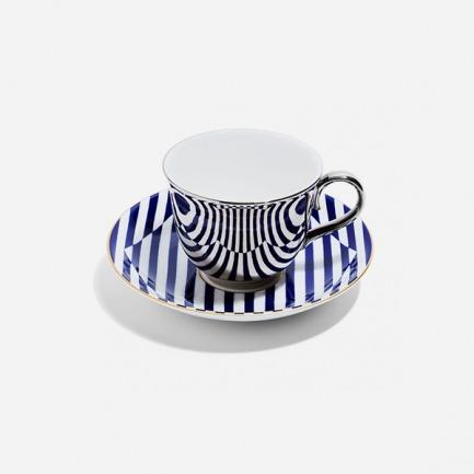 高级艺术感镜面茶杯套装 | 不规则条纹设计