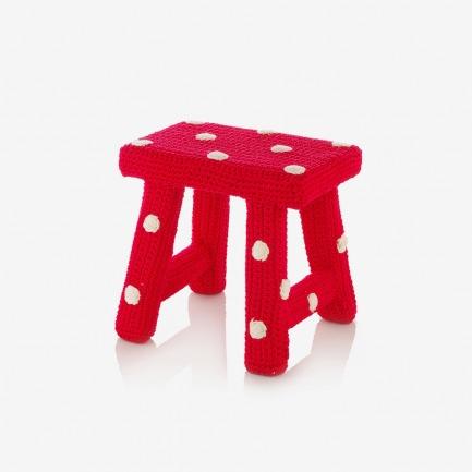 红色斑点小凳