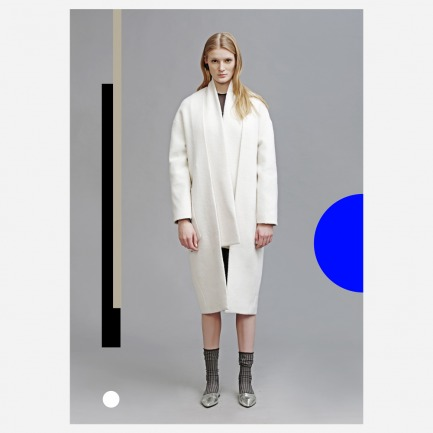 两件式纯澳洲羊毛长款大衣 【预订款】