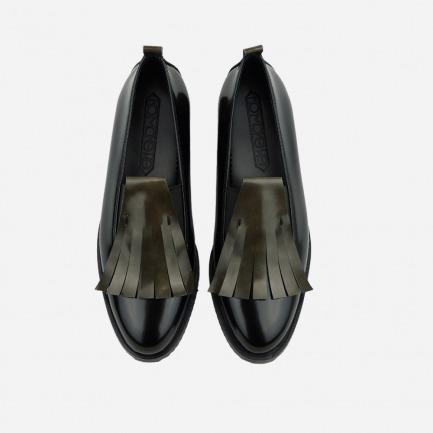擦色真皮乐福鞋 舒适百搭 | 复古流苏点缀 两色可选