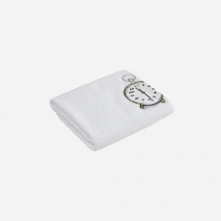 闹钟图案浴巾
