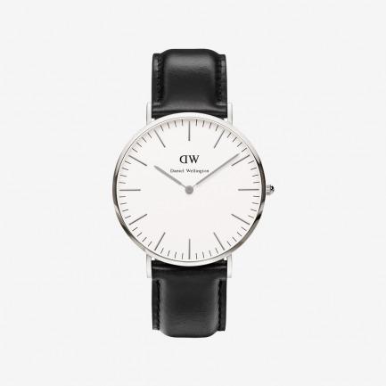 Sheffield 银色表盘皮带腕表 【中性款40mm表盘】 | 绅士质感 简约精致