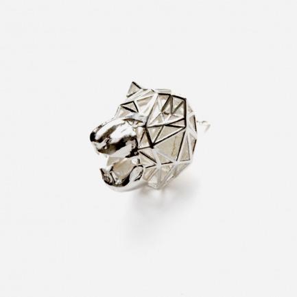 Zoo series老虎胸针 | 3D打印镂空设计 光与影的灵动交错【银色】