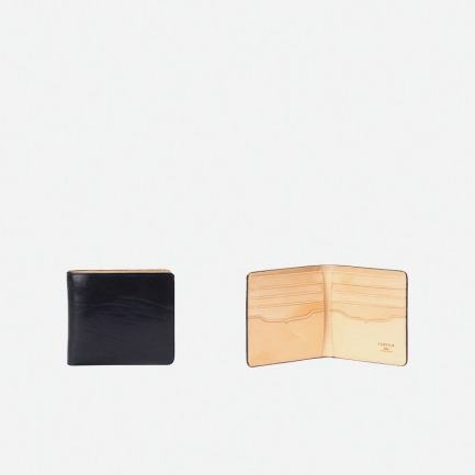 植鞣真牛皮8卡位短款钱包(墨蓝)【18号按订单顺序发货】
