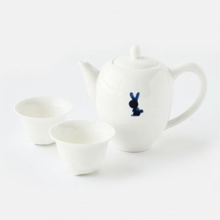 侧把茶壶套装/兔语(手绘)