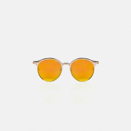 金色镭射镜面半框太阳眼镜