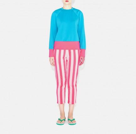 2015春夏系列红色条纹七分裤(付款后十二天发货)