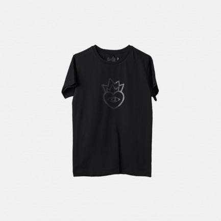 黑色简约印花图案logo短袖T恤
