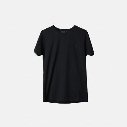 黑色简约刺绣logo短袖T恤