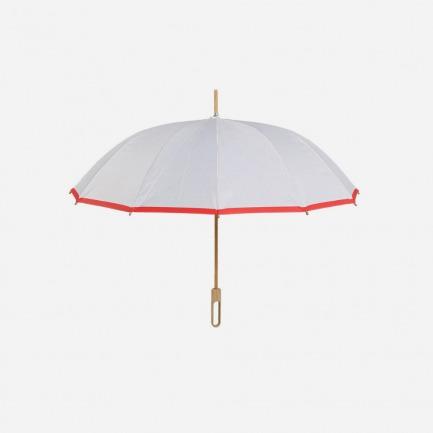 线条几何款竹制雨伞