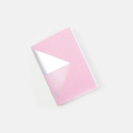 几何拼图笔记本-粉银