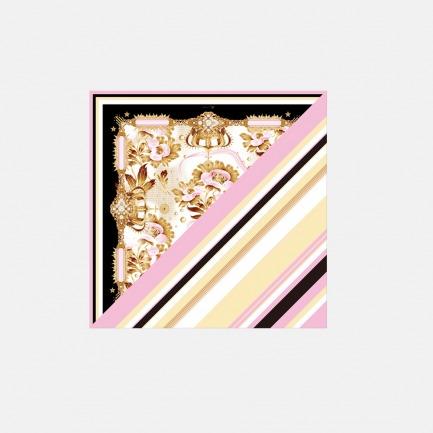 Princess系列 皇冠花纹真丝方巾(斜纹款)  ssjk15-029