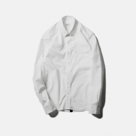 白色口袋衬衫(POCKET B.D SHIRT/WHITE)