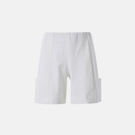 中世纪廓形白色短裤
