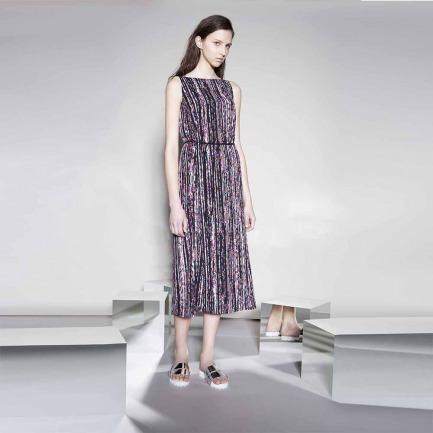 粉色长款连衣裙(LW15SsB0506-1TP11-ABC)