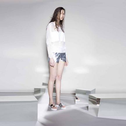 银色短裤(LW15SsB07002-1TT17-AB)
