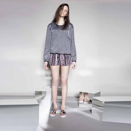女式印花运动短裤(LW15SsB07002-1TP11-AB)