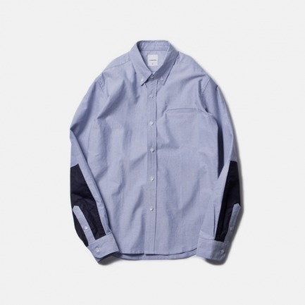 尼龙牛津布拼接衬衫(NYLON PANEL OXFORD B.D SHIRT/NAVY)
