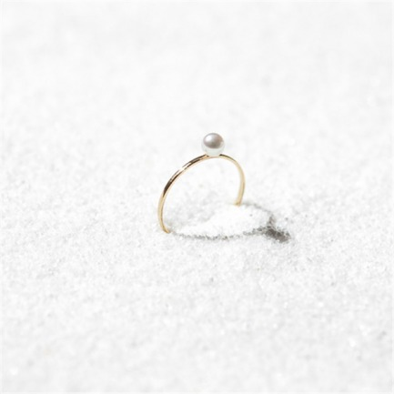 莹-珍珠戒指 | 18K黄金+天然海水白珍珠