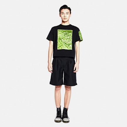 绿色压褶情侣T恤(男款)
