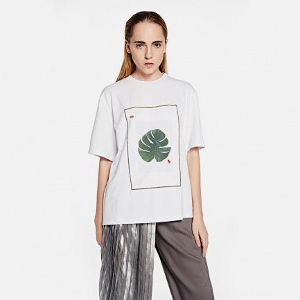 绿叶与瓢虫趣味T恤