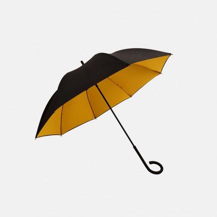 黑黄双层伞布