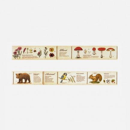 复古动物植物纸胶带套装