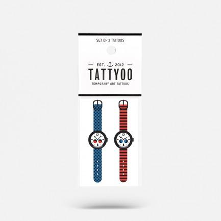 奇怪手表儿童纹身贴纸(2套四张)