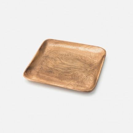 简约合欢木小方盘