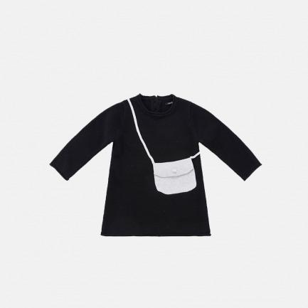 精梳棉背包毛衫裙(乌黑色)