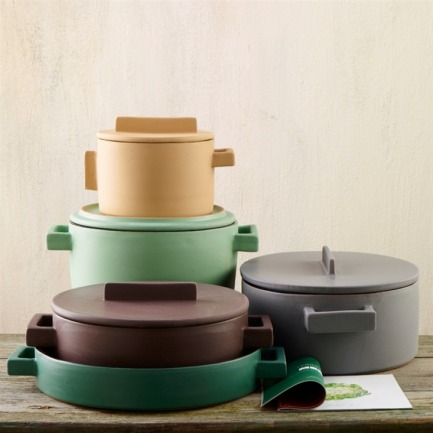 Colorful Cookware: Terra Cotto Ceramic Pots from Italy by Margot Guralnick