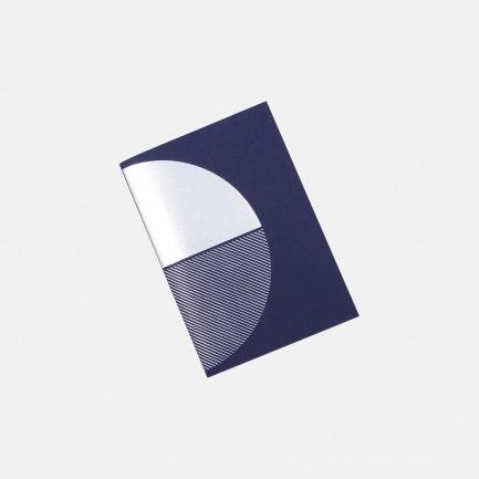几何拼图笔记本 深蓝+银