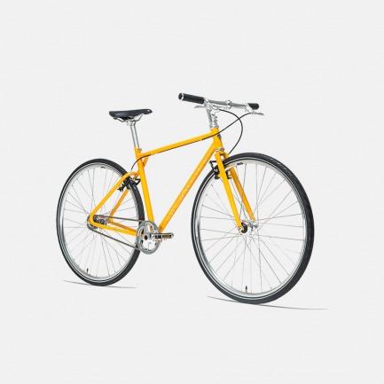 自动变速的城市骑行自行车 金秋黄 | 黑科技骑行 内置蓝牙传感器