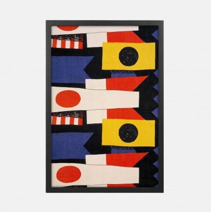 《旗帜图案织品》装饰画 | 来自英国第二大博物馆典藏