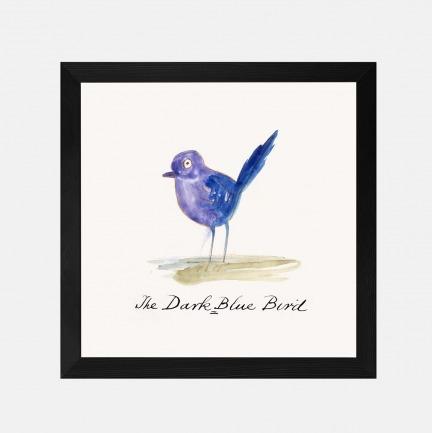 深蓝色的鸟 装饰画(定制品15个工作日内发货)