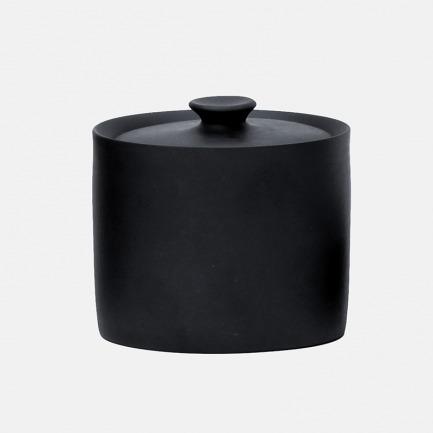 炭陶收纳瓶 墨兰系列盛器 | 古朴典雅美感 线条简约
