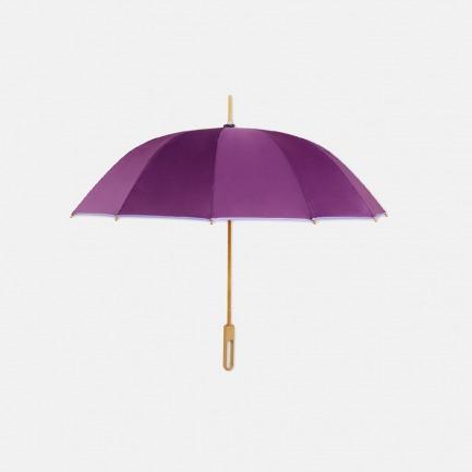 素色系列竹制雨伞(绯紫)