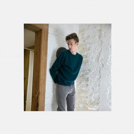 100%羊绒7针编织宽松粗线套衫