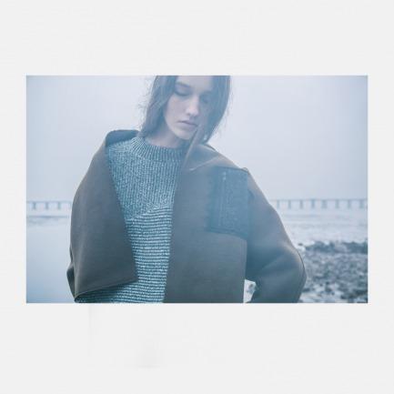 独家羊毛混色针织上衣(5个工作日发货)