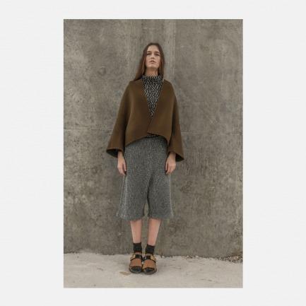 独家羊毛混色针织中长裤(5个工作日发货)
