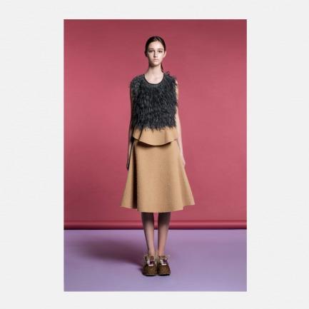 高腰羊毛喇叭裙(5个工作日发货)