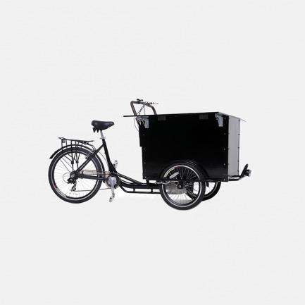 黑色三轮咖啡车