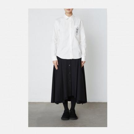 "Triple-Major ""脉""系列白色衬衫"