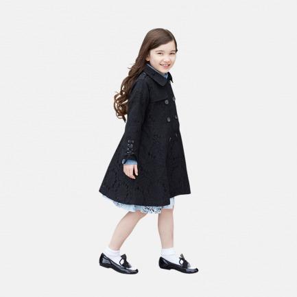 蕾丝风衣外套